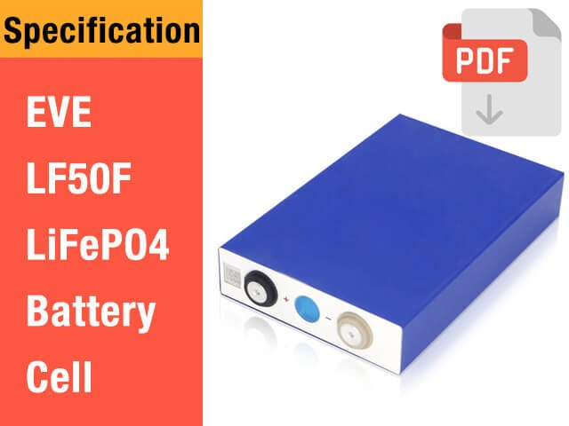 EVE-50Ah-LF50F-LiFePO4-Battery-Cell-Specification