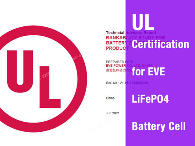UL certification for EVE Battery Cell