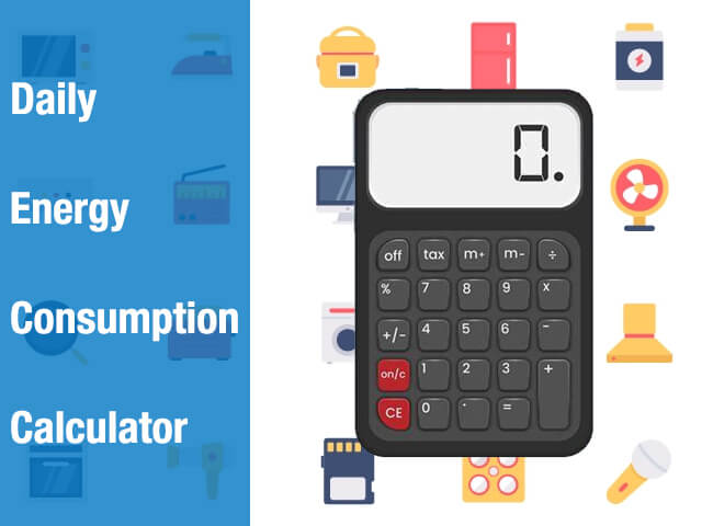 daily power consumption calculator